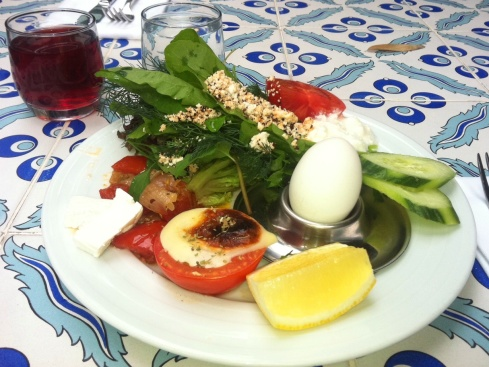 Color photo of a Turkish Breakfast