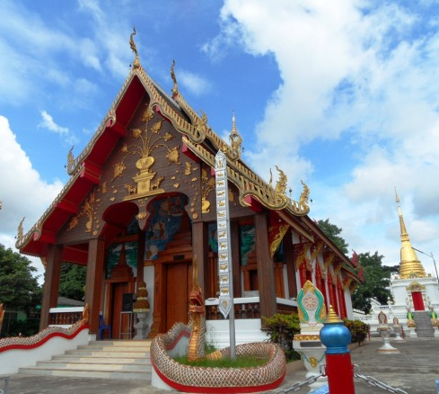 color photo of a local temple in Northern Thailand