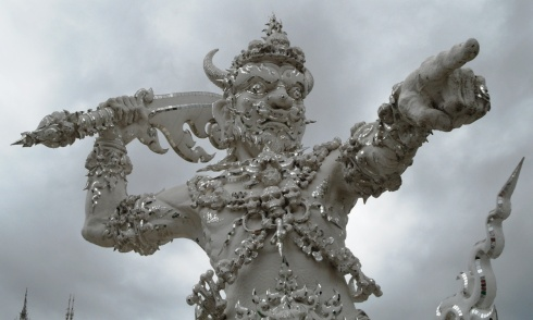Sculpture at the White Temple in Thailand