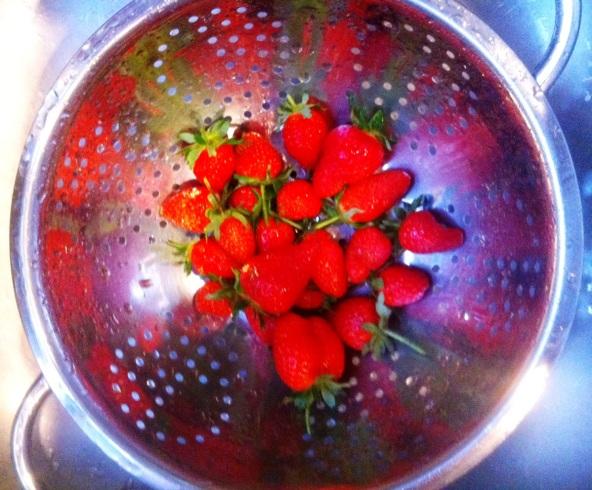 Fresh organic ripe strawberries