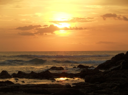 Sunset at Playa Langosta