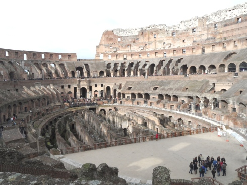 Photo of the ancient Roman Colosseum