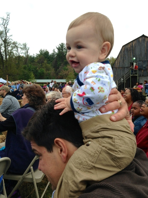 Baby Watching Traditional Native American Dance