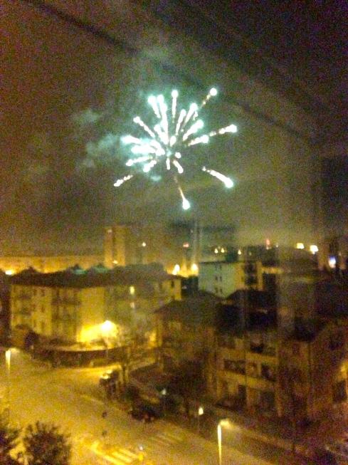 Fireworks over Florence